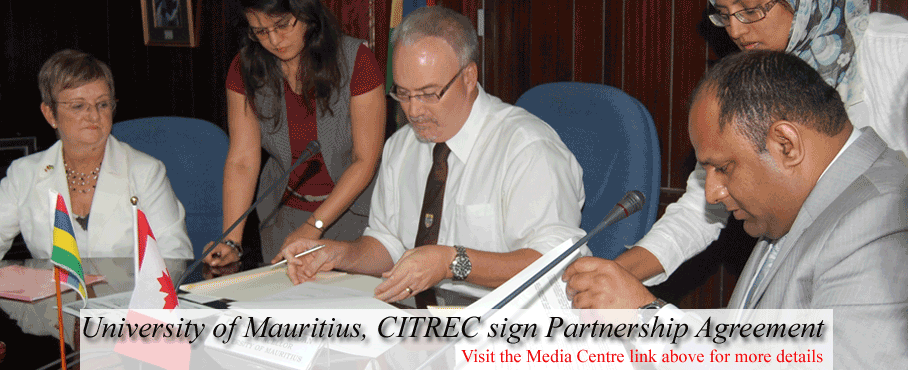 University of Mauritius, CITREC Sign Partnership Agreement